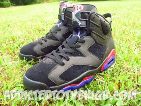 more photos 238f9 618c7 Youth Big Boys Air Jordan 6 Raptor Customs Varsity Red ...