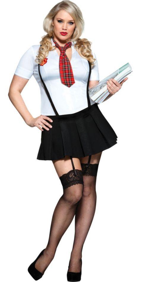 adult debbie does detention schoolgirl costume plus size - party