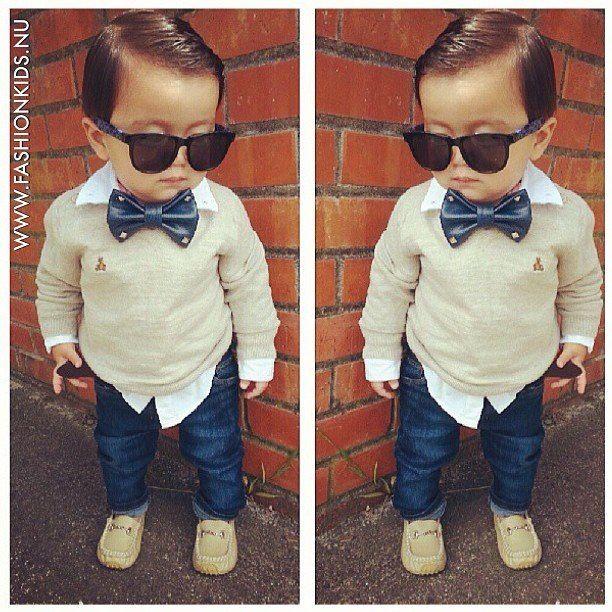 New boys clothing set children bow tie twinset long-sleeve top+jeans 2 pcs suit
