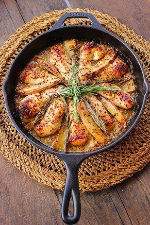 Honey Mustard Rosemary Chicken | 21 Fresh Ideas For Chicken Dinners