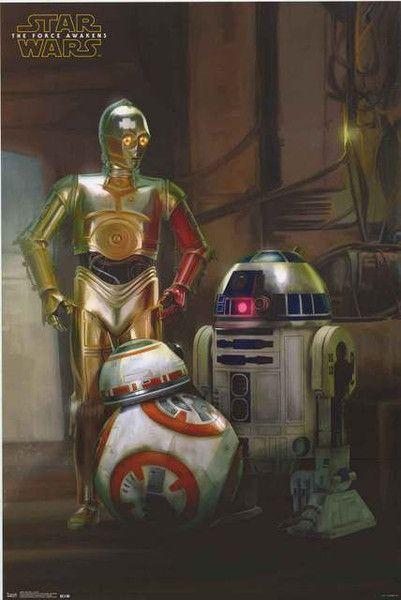 Star Wars Force Awakens Droids Poster 22x34 – BananaRoad
