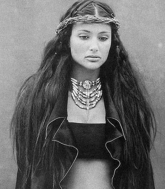 Model & actress Brenda Schad of Choctaw and Cherokee