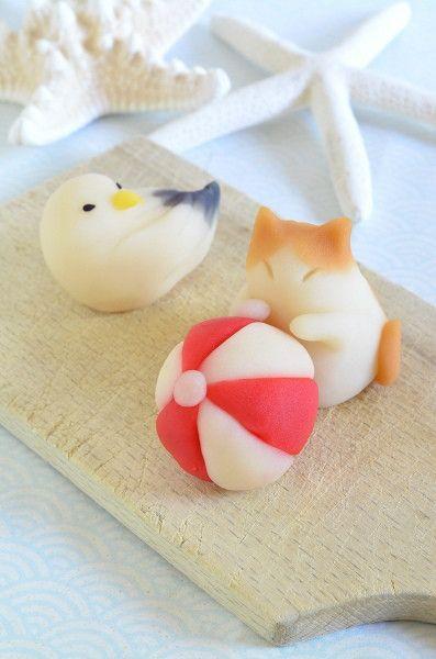 Nerikiri Cat, Bird, and Ball