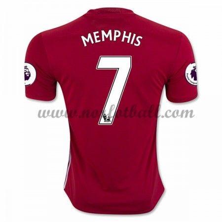 Billige Fotballdrakter Manchester United 2016-17 Memphis 7 Hjemme Draktsett Kortermet