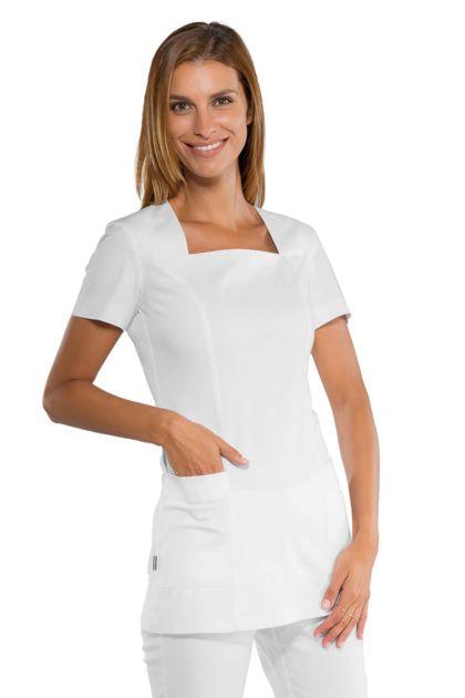 Tunique esthéticienne blanche Coupe cintrée stretch confort