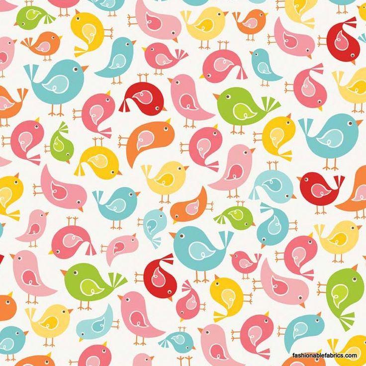 Fabric... Hello Sunshine Birds on White by Riley Blake Designs