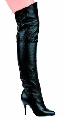 """Ellie Shoes - 8868, 4"""" Heel Pig Leather Renaissance Medieval Thigh High Boots"""
