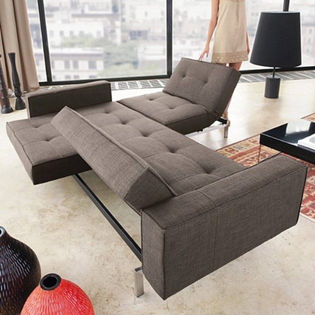 innovative furniture for small spaces. innovation oz deluxe dark brown textile convertible sofa modern living room furniture at hayneedle innovative for small spaces