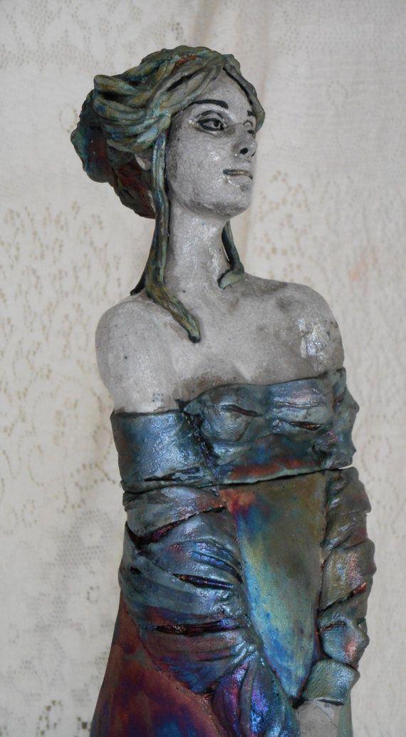 Raku Lady Despacia Jar by Leslie Ahrens by LeslieAhrensOriginal, $195.00