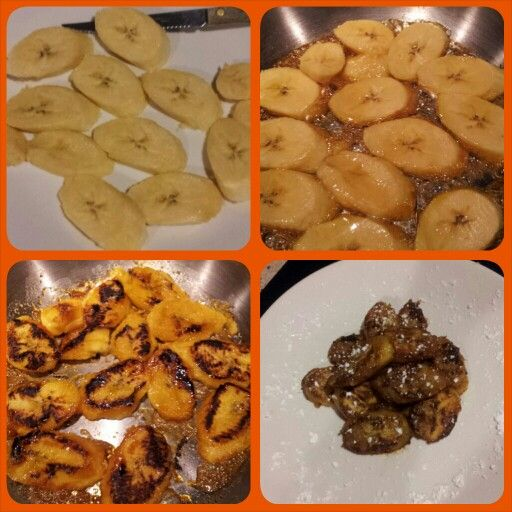Platanos Fritos con miel: Slice the platano. Grease a pan with 1 tsp of oil. Grill the platanos for a few seconds then drizzle 2tbs of honey over the platanos. Flip platanos to cook evenly. Plate and ENJOY!  ♥Tina