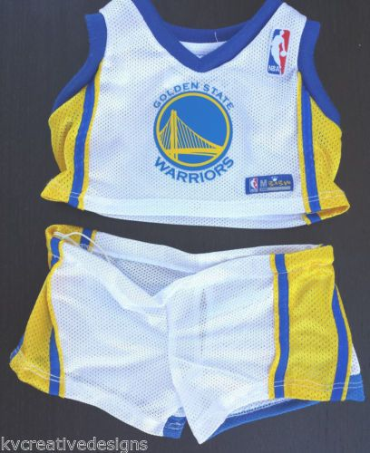 e5ddf6ac6ab Build A Bear Golden State Warriors Tank Shorts Basketball Uniform Outfit  Clothes
