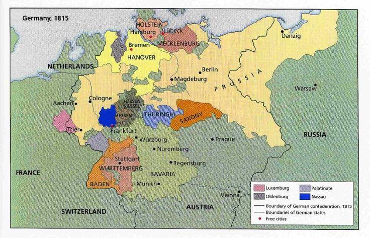 Map of German Confederation, 1815