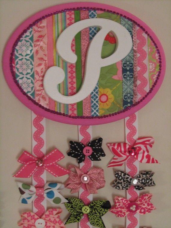 cute ribbon holder for baby girl's room