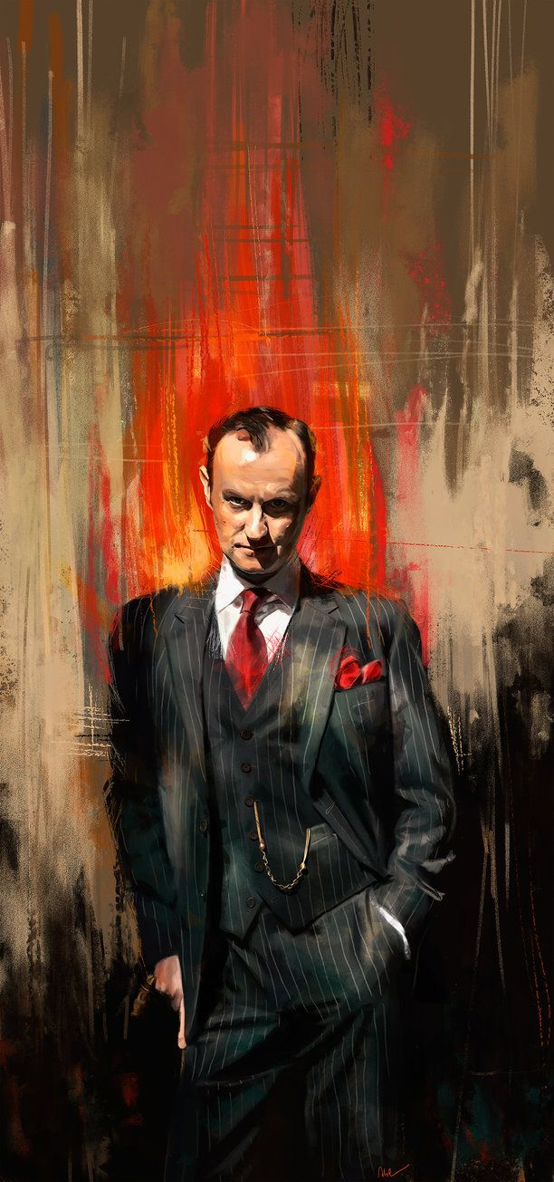 Absolutely captures the character, Mycroft Holmes by Namecchan on deviantART