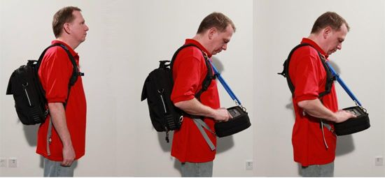 Agilent's ergonomic backpack system for field engineers