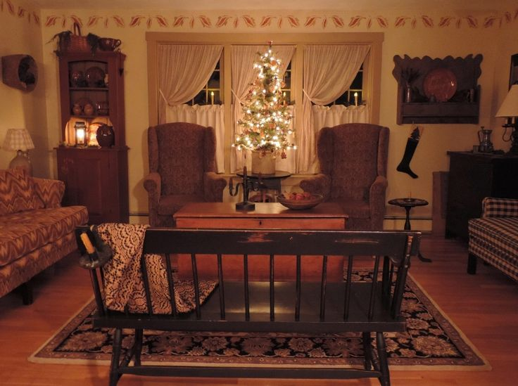 Primitive Country Living Room Ideas English US