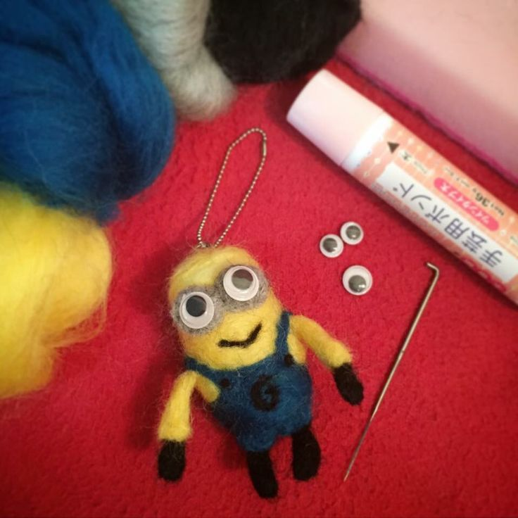 Needle Felted Bob Minion.