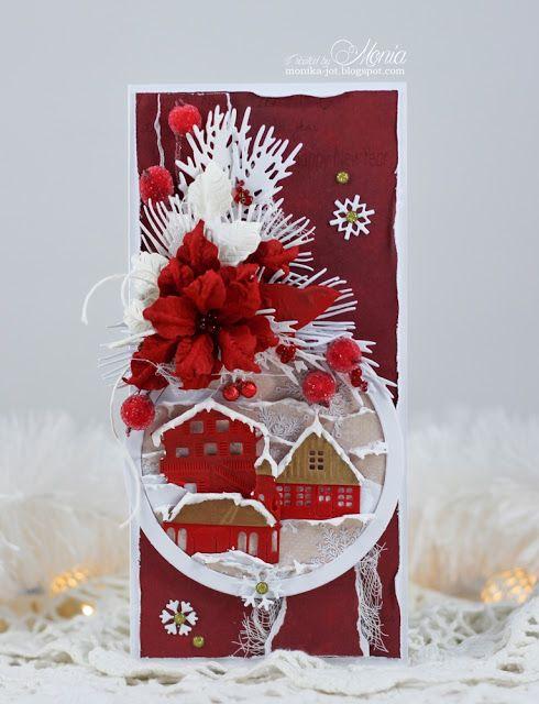Moja papierowa kraina: Świąteczna na czerwono