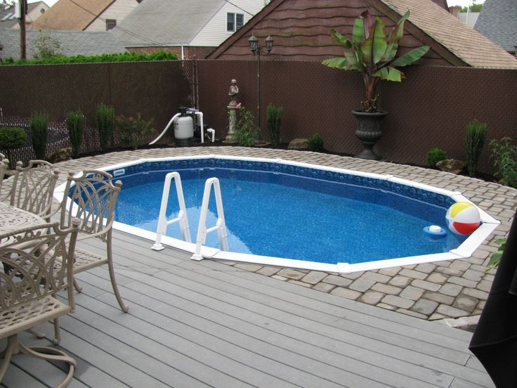Semi Inground Pools With Decks Concrete Floor Panels