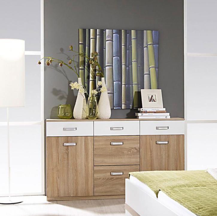 Comoda Gandra alb si culoarea lemnului 149/86/37 cm \ imagine indisponibila
