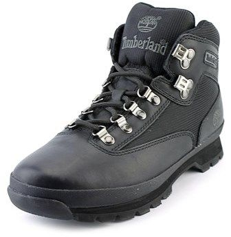 Timberland Eurohiker Men Round Toe Leather Black Hiking Boot.