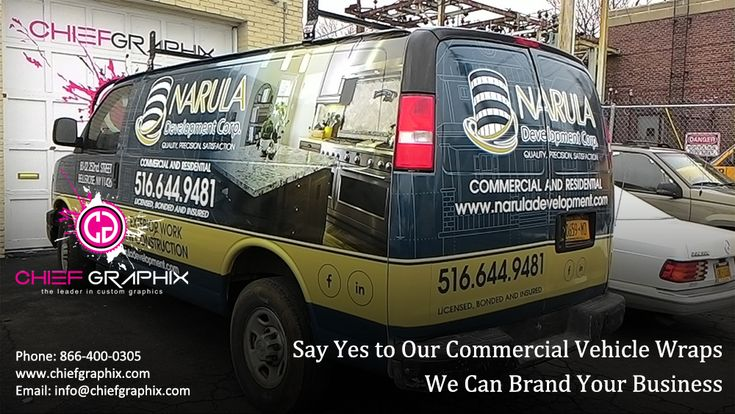 Say Yes to Our Commercial Vehicle Wraps We Can Brand Your Business