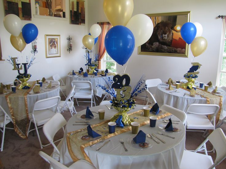 Lasalle University Graduation Party Gold Blue And Cream
