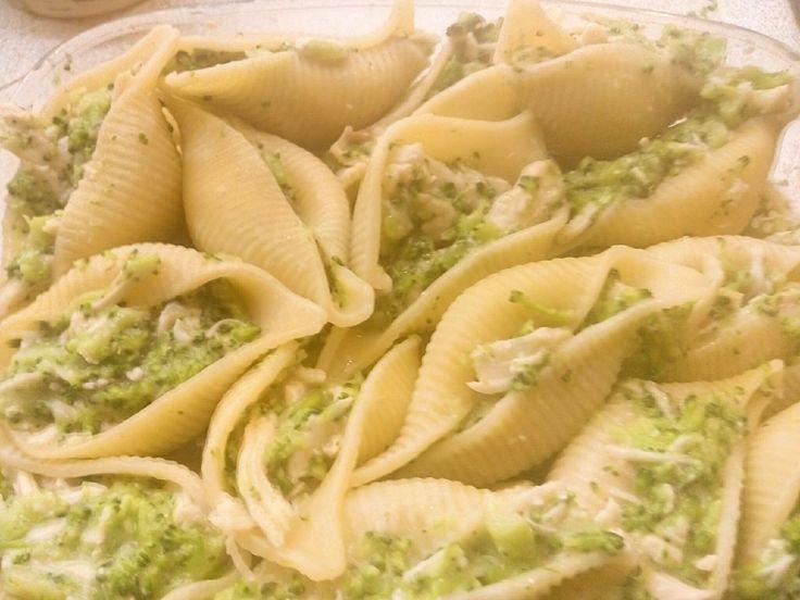 Gevulde pasta schelpen met broccoli en kip | Oven/Airfryer