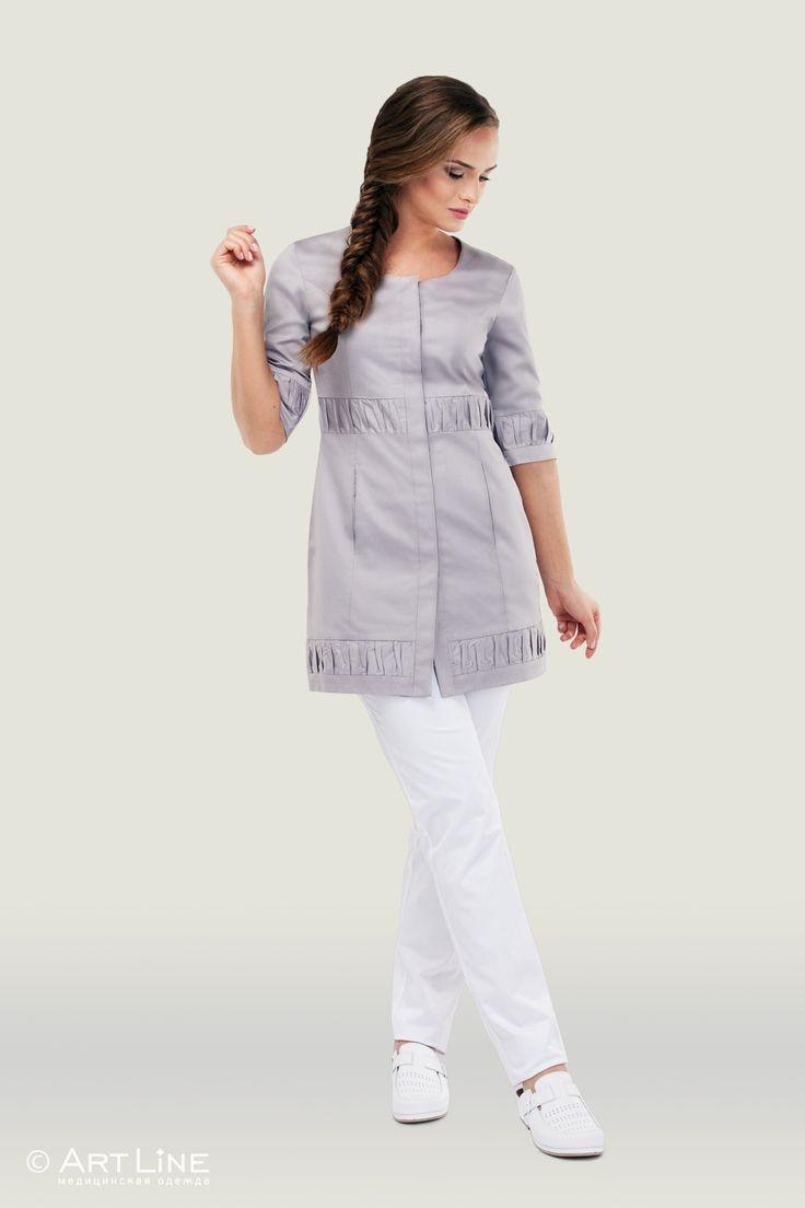 Med Uniforms - халат укороченный на кнопках артлайн, арт.3-132 (серый, n14, 3)