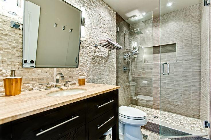 Revestimiento Baño Rustico:revestimientos paredes piedras baño