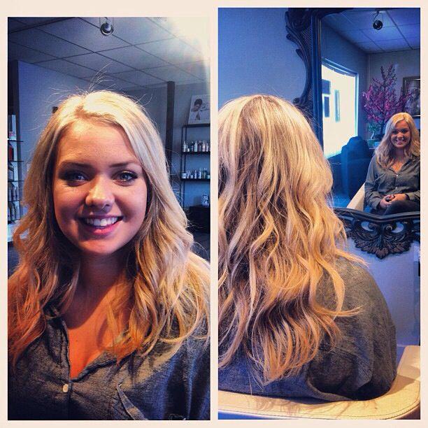 Long n blonde! www.dollhousehair.ca