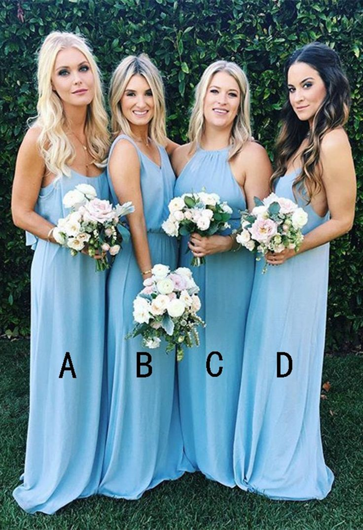 2017 bridesmaid dresses,long bridesmaid dresses,blue bridesmaid dresses,chiffon bridesmaid dresses
