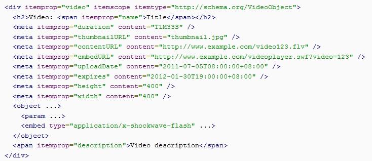 Les vidéos sont de plus en plus présentes dans les résultats des moteurs de recherche et sont maintenant devenues incontournables en termes de stratégie de contenu. Google a annoncé mardi dernier dans un article sur son blogue pour webmestres qu'ils ajoutent un nouveau support pour le format schema.org : le marquage pour les vidéos.     Pour en savoir plus : http://www.adviso.ca/blog/2012/02/24/optimiser-vos-vidos-pour-google-nouvelles-balises-schema-org/