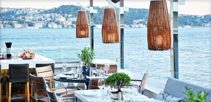 Gorgeous view of Bosphorus and delicious asian food.