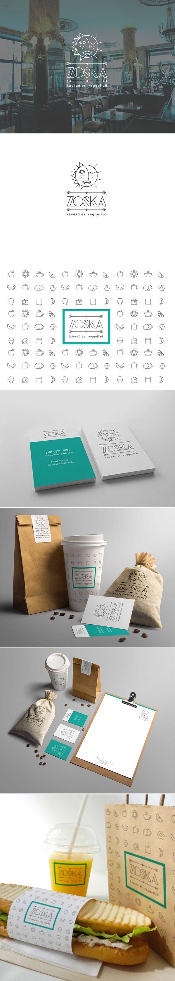 #IDENTITYDESIGN https://www.behance.net/gallery/17704647/Zoska-Coffe-Branding
