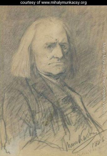 Portrait Of Franz Liszt - Mihaly Munkacsy - www.mihalymunkacsy.org