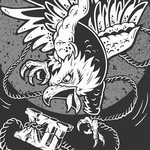 W.I.P 🕊💣  #illustration #graphic #graphicdesign #design #merch #merchandise #brand #branding #art #artwork #bold #eagle #traditional #tattoo #ink #inked #illustrator #vector #blackandwhite #darkartists #eagletattoo #festival #czech #ms #soon