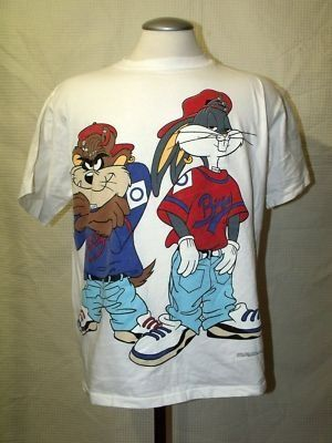 Gangster cartoons were so in during the 90's, I owned and wore this shirt...I have a picture of myself wearing it on the AT! hahaha