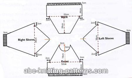 Pattern for raglan sleeved sweatshirt