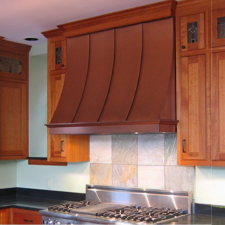 Delightful Wall Mount Copper Stove Hood
