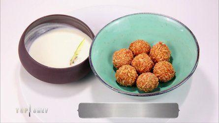 Croquettes de cabillaud, gnocchi, épinards kumbawa et vinaigrette yaourt-citron Top Chef 2015 Olivier Streiff