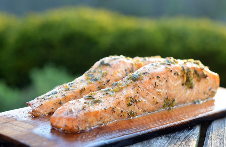 The cedar plank and herbs impart a smoky, woodsy flavor, while the lemon zest and garlic add zing.