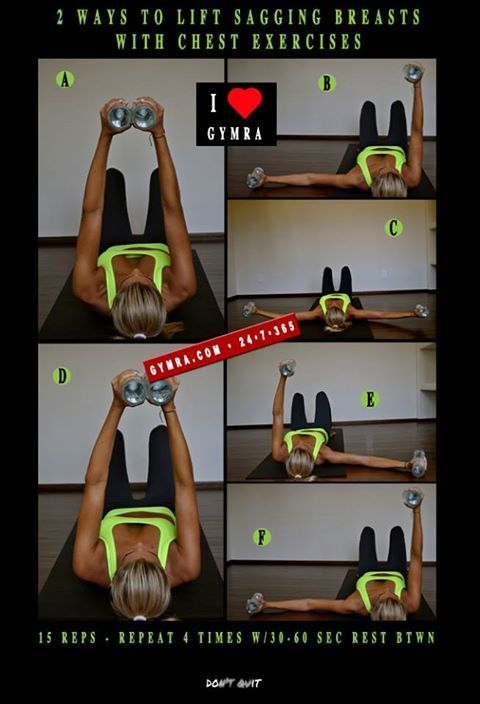 d42ce69088 2 Ways to Lift Sagging Breasts With Chest Exercises! Do 15 reps ...