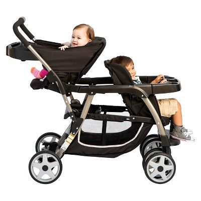 Graco Ready2Grow Click Connect Double Stroller - Gotham