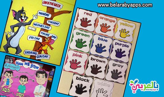افكار لوحات مدرسية للغة الانجليزية للاطفال لوحات اللغة الانجليزية بالصور للاطفال مجسمات فنيه ا Kids Learning Activities Learning Activities Kids Learning