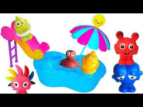 Babblarna har picknick med tårta och saft - Lek och Lär med Babblarna - Bobbo leker kurragömma - YouTube