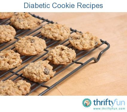 This page contains diabetic cookie recipes. Having diabetes does not mean you can't enjoy cookies.