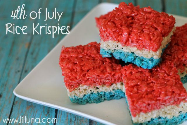 fourth of july rice krispies treats!