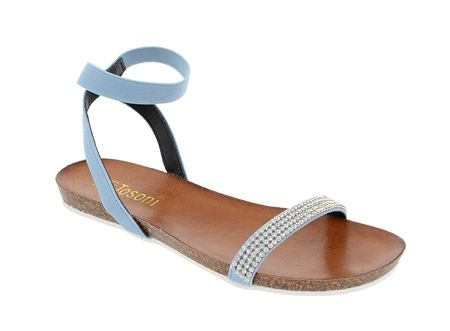 Tosoni at #Spitz - Diamante Toe-Bar Sandal on Moulded Bed - Women's Shoes #SS14