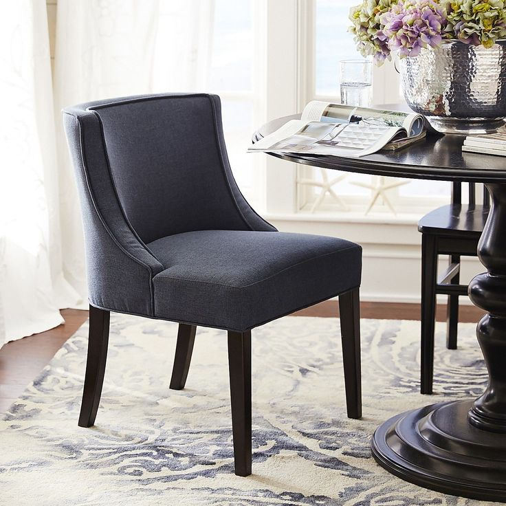 eva navy dining chair